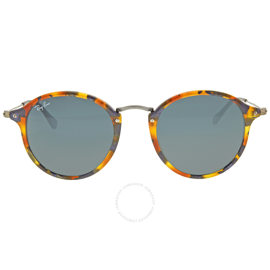 0a31ee08c40d5 Ray Ban Round Fleck Blue Gray Classic Sunglasses RB2447 1158R5 49 ...