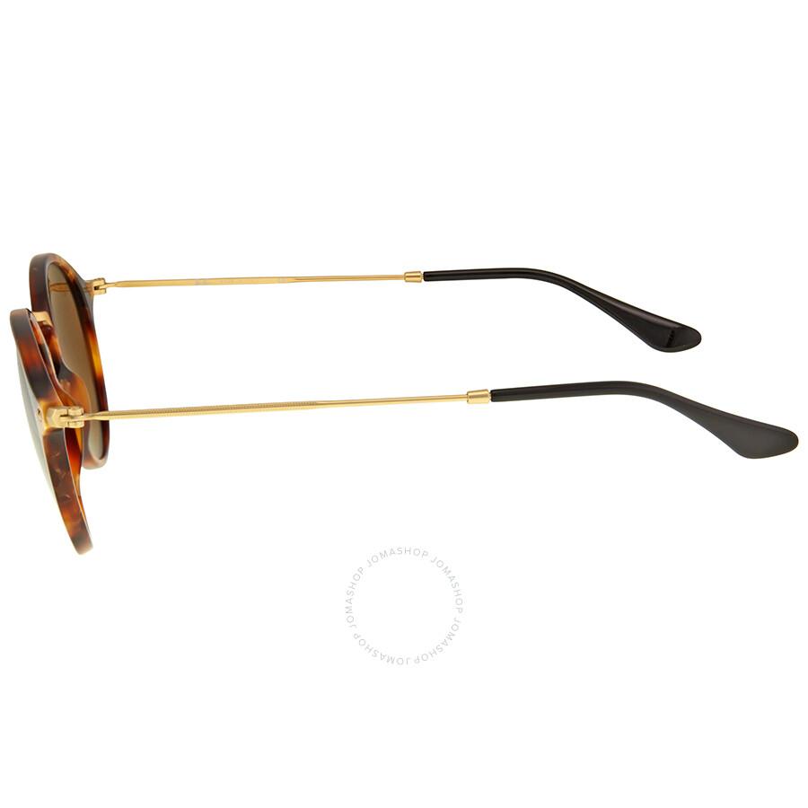 2ebc005e92 ... Ray Ban Round Fleck Brown Classic B-15 Sunglasses RB2447 1160 49 ...