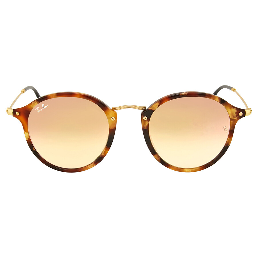 7f173758ea Ray-Ban Round Fleck Copper Gradient Flash Sunflasses RB2447-11607O-49 ...