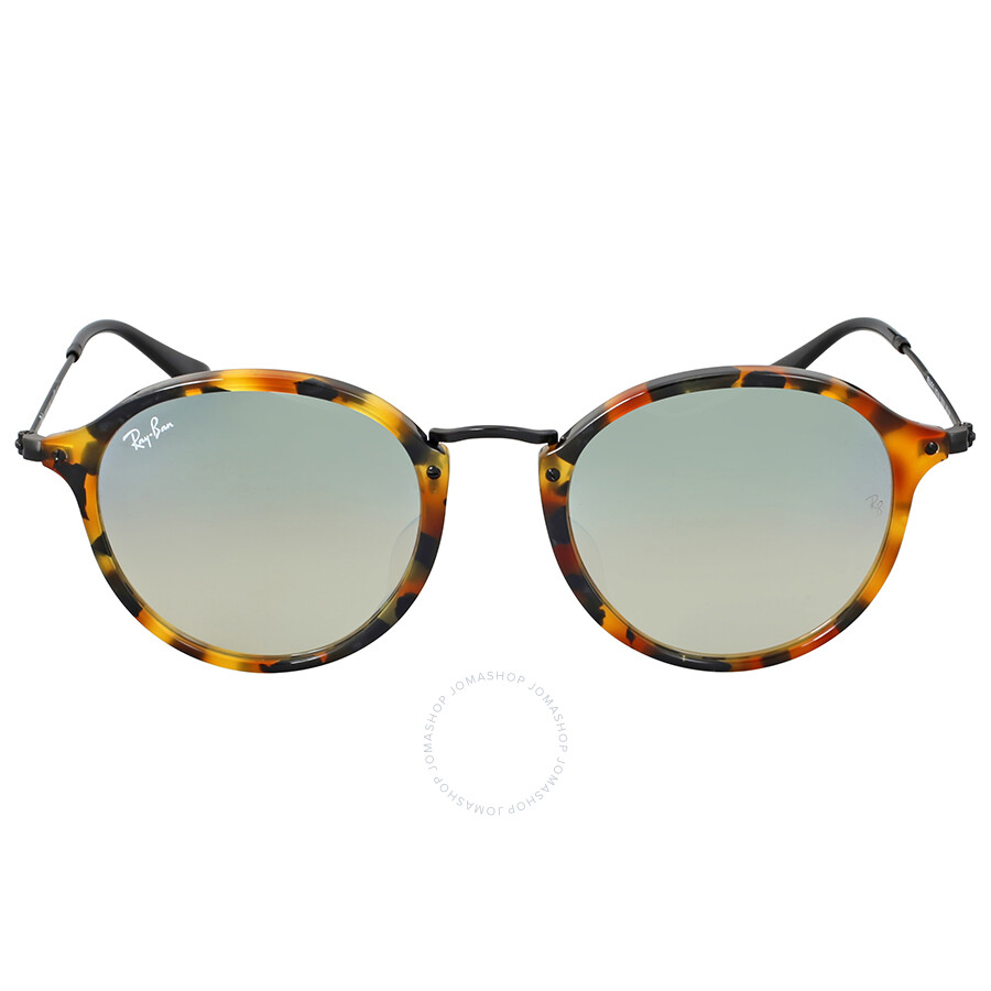 ray ban round frame acetate sunglasses  ray ban round fleck flash silver gradient flash sunglasses 0rb2447f11579u52