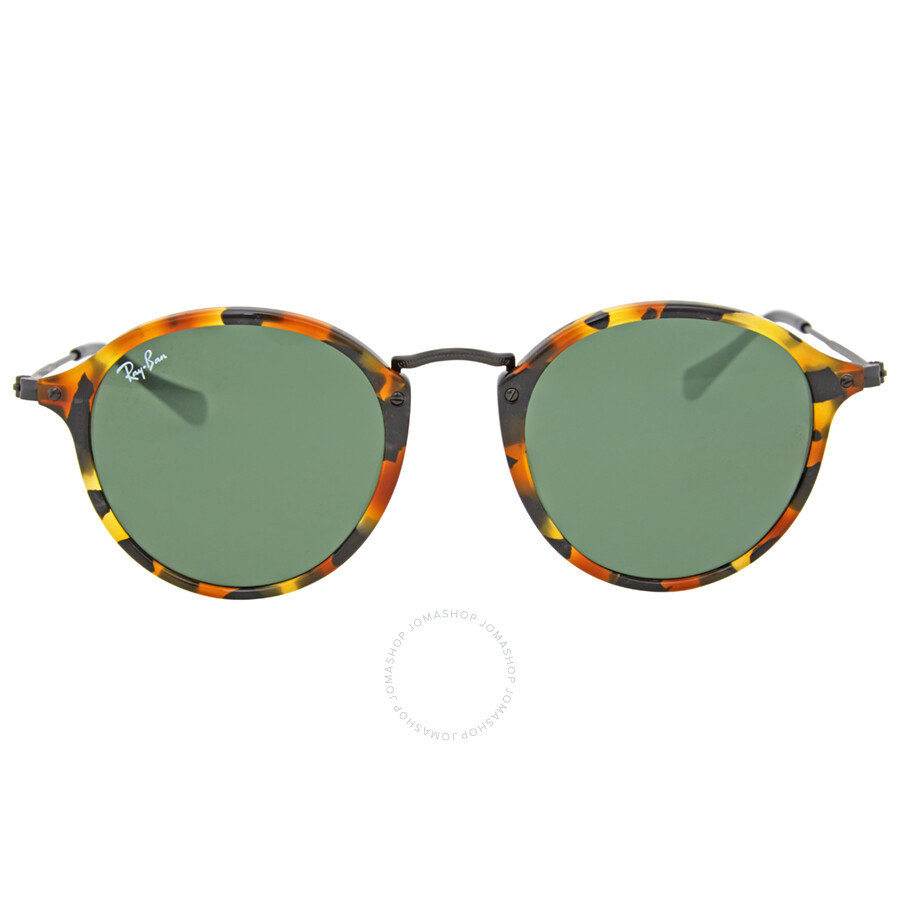 6a4e1f51f46 Ray Ban Round Fleck Green Classic G-15 Sunglasses RB2447 1157 Item No.  RB2447 1157 49