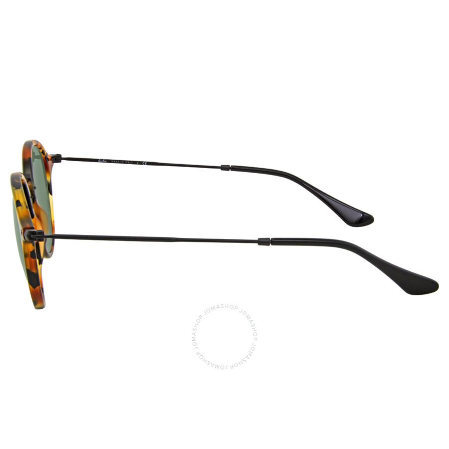 07cc66f27d ... Ray Ban Round Fleck Green Classic G-15 Sunglasses RB2447 1157 49 ...
