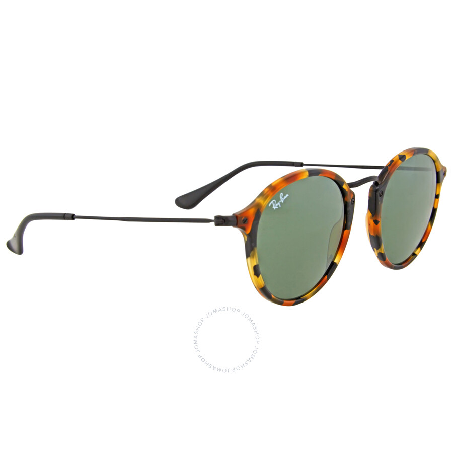 2277aacc88193 Ray Ban Round Fleck Green Classic G-15 Sunglasses RB2447 1157 49 ...