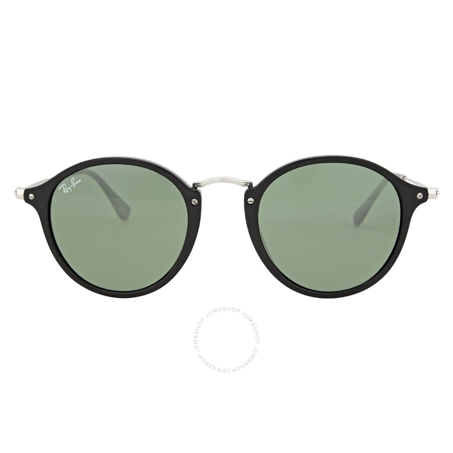 f2f13c1e9a5 Ray Ban Round Fleck Green Classic G-15 Sunglasses RB2447 901