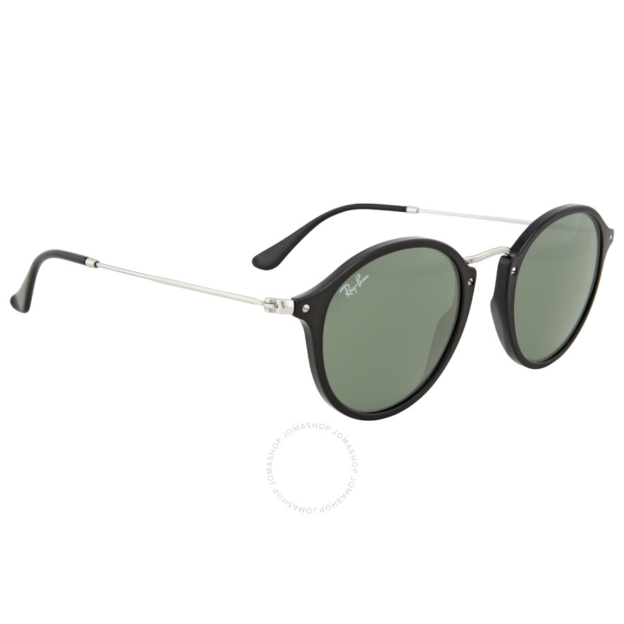 e9cae036577 Ray Ban Round Fleck Green Classic G-15 Sunglasses RB2447 901 49 ...