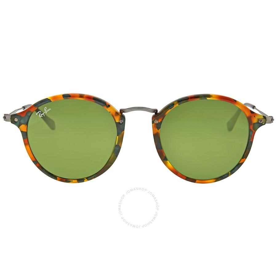 9423a7959ae5e3 Ray Ban Round Fleck Green Classic Sunglasses RB2447 11594E 49 ...