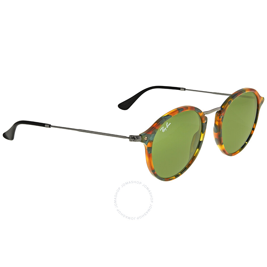 5e56cdd1063ee Ray Ban Round Fleck Green Classic Sunglasses RB2447 11594E 49 ...