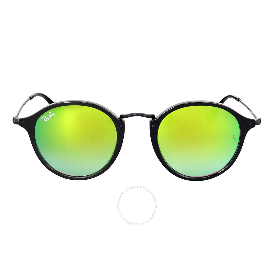 817302c9ac5 Ray-Ban Round Fleck Green Gradient Flash Sunglasses RB2447 901 4J 49 ...