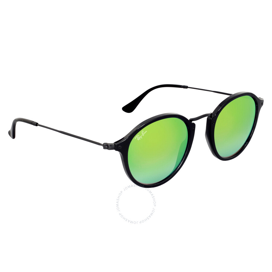 164f2e0d739c8 ... Ray-Ban Round Fleck Green Gradient Flash Sunglasses RB2447 901 4J 49 ...