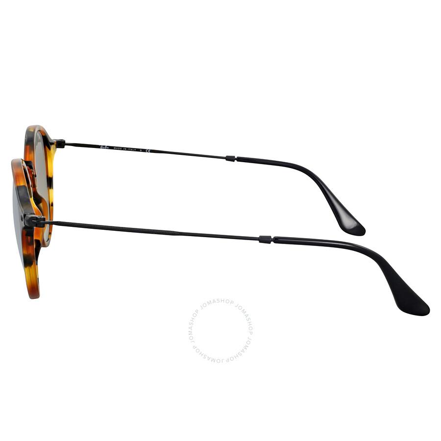 d8e794aac95 ... Ray Ban Round Fleck Silver Gradient Flash Sunglasses RB2447-11579U-49