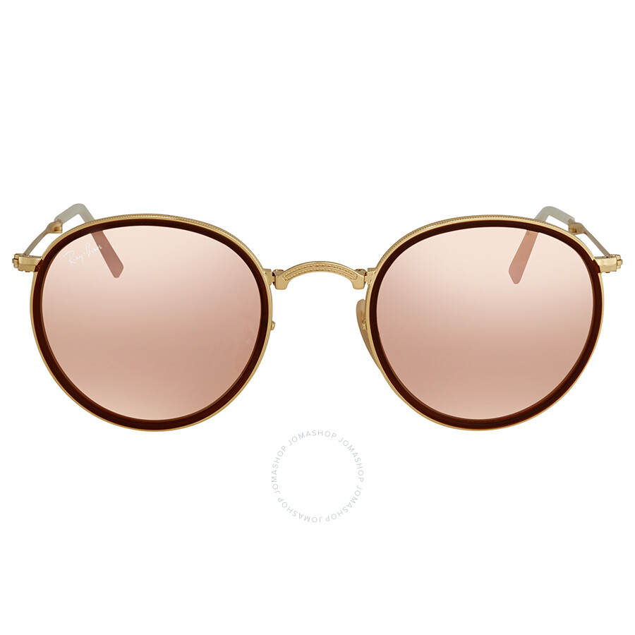 30267d789f ... Ray Ban Round Folding Copper Flash Sunglasses RB3517 001 Z2 48 ...