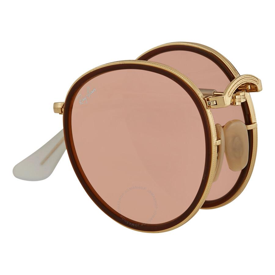 259b6bdf52 Ray Ban Round Folding Copper Flash Sunglasses RB3517 001 Z2 48 ...