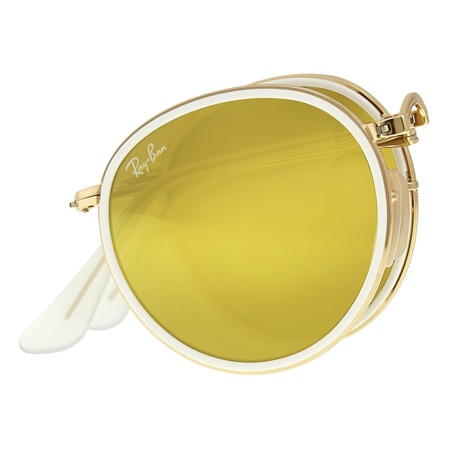 7dc4b65ac9 Ray Ban Round Folding Gold Sunglasses - Round - Ray-Ban - Sunglasses ...