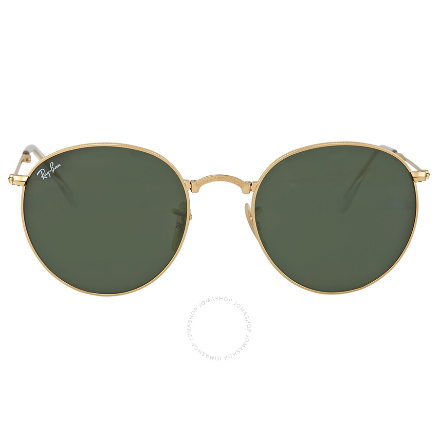 Green Frame Ray Ban Glasses : Ray-Ban Round Gold Frame Green Lens Sunglasses - Round ...