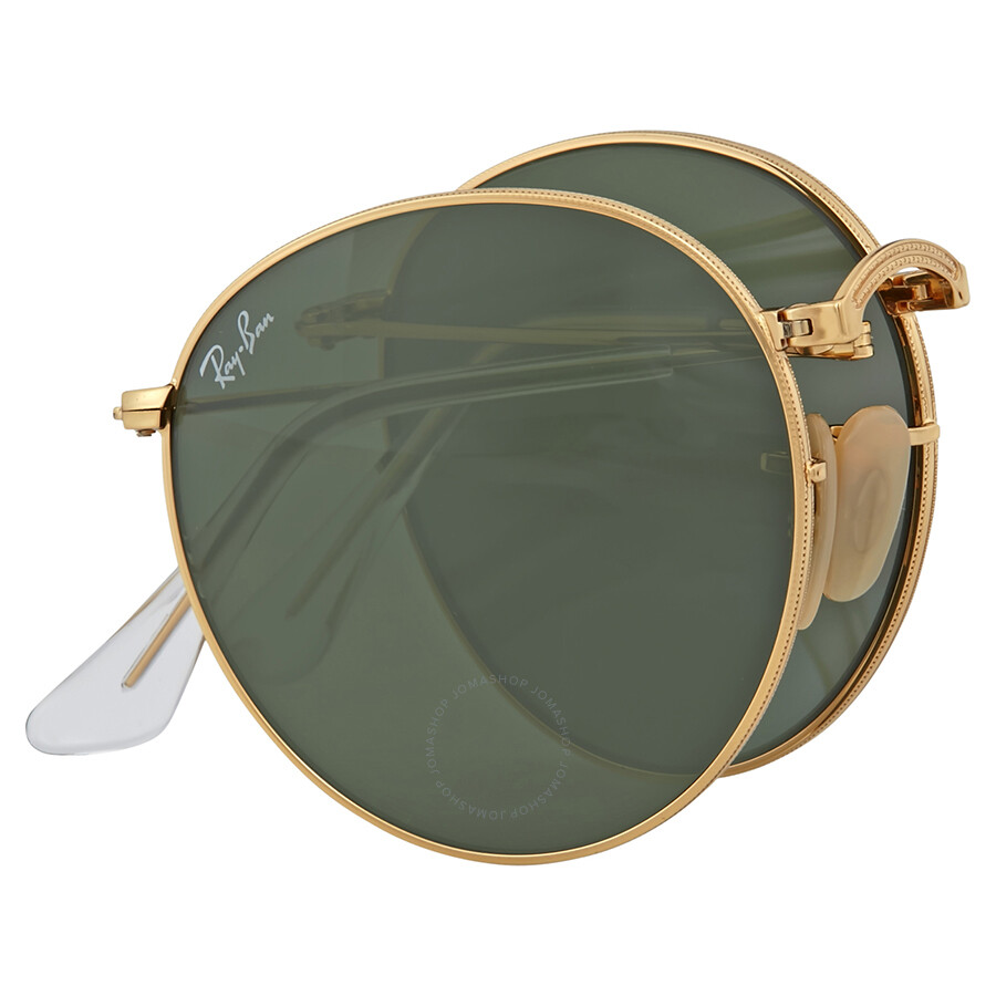 Gold Frame Ray Ban Sunglasses : Ray-Ban Round Gold Frame Green Lens Sunglasses - Round ...