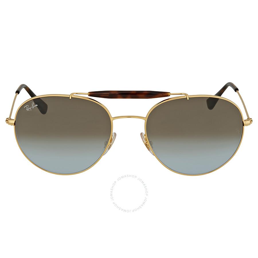ray-ban round gold sunglasses - round
