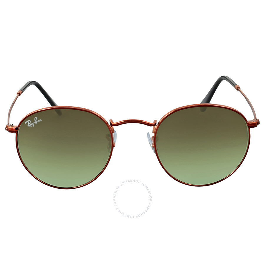 8b1ff6558bb Ray Ban Round Green Gradient Sunglasses Item No. RB3447 9002A6 47