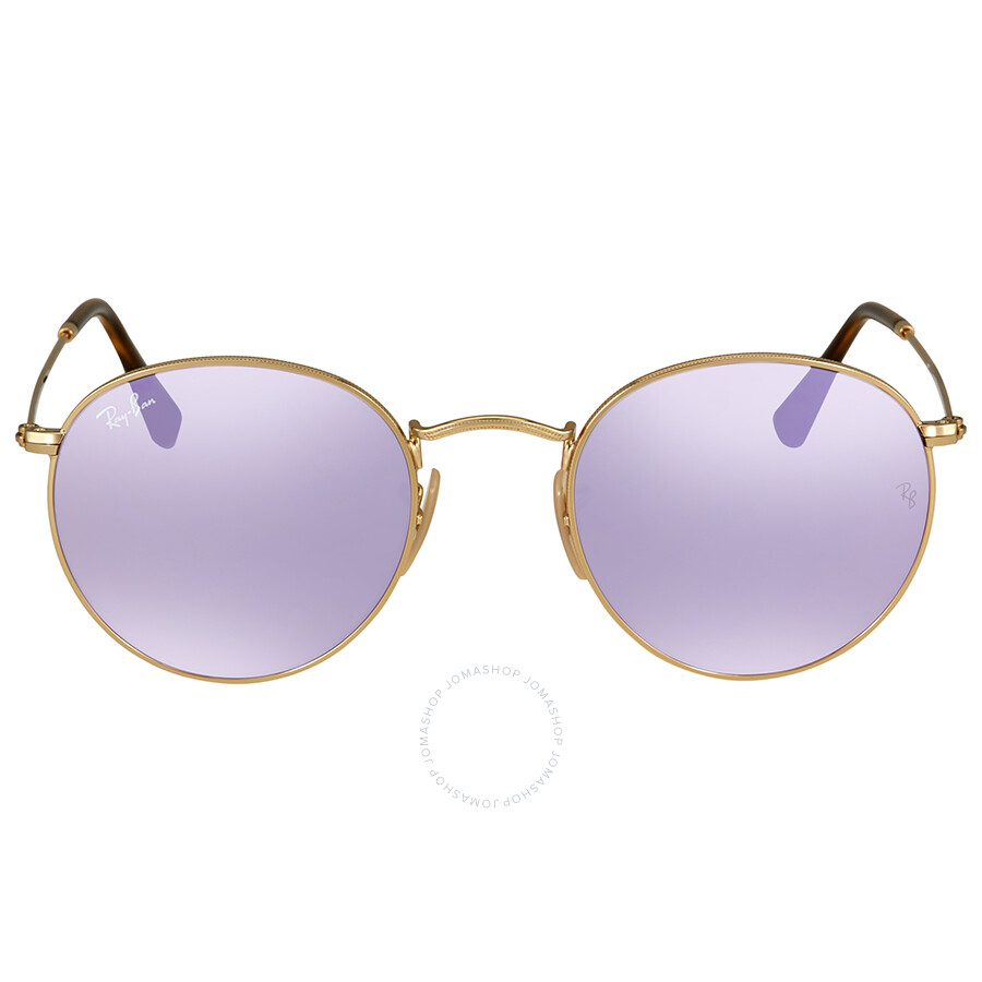 c3e0d81e81 ... uk inexpensive ray ban rb3447 round flash lilac mirror lenses sunglasses  free shipping today overstock 17443341