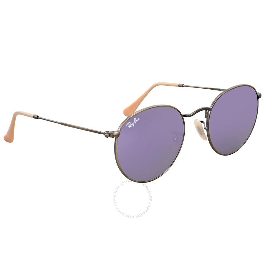 807d97c62d Ray-Ban Round Lilac Mirror Sunglasses RB3447 167 4K 50 - Ray-Ban ...