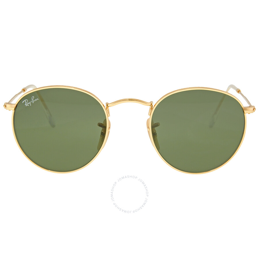 8a56fe6dc7 Ray Ban Round Metal Crystal Green Sunglasses RB3447 001 47 - Ray-Ban ...
