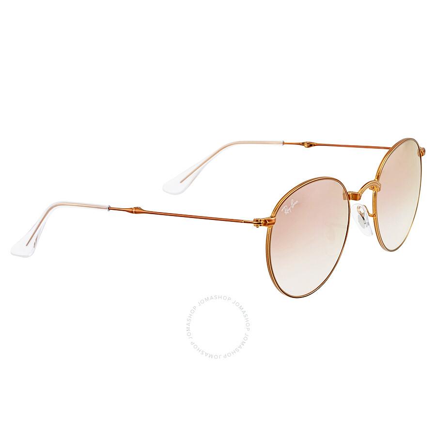 279571b701e ... Ray Ban Round Metal Folding Copper Gradient Flash Sunglasses RB3532 -198 7Y-50 ...