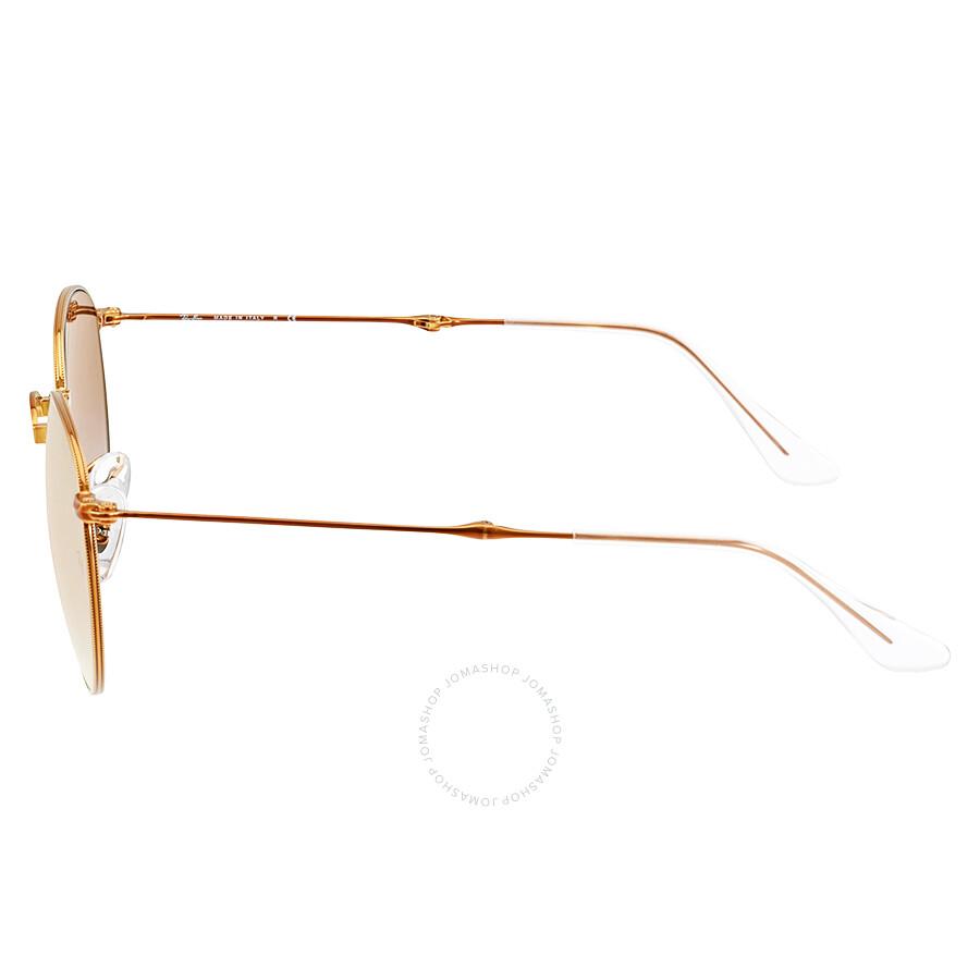 07c59d39eb ... Ray Ban Round Metal Folding Copper Gradient Flash Sunglasses RB3532-198  7Y-50 ...