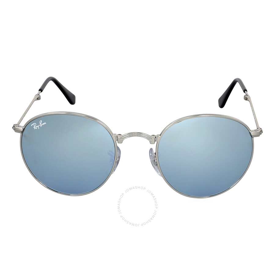 ray ban round metal folding silver flash sunglasses rb3532. Black Bedroom Furniture Sets. Home Design Ideas