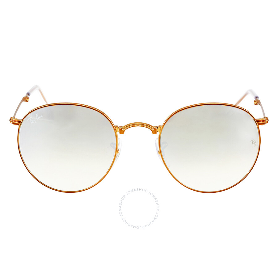 608e47fa4461 Ray Ban Round Metal Folding Silver Gradient Flash Sunglasses  RB3532-198 9U-50 ...