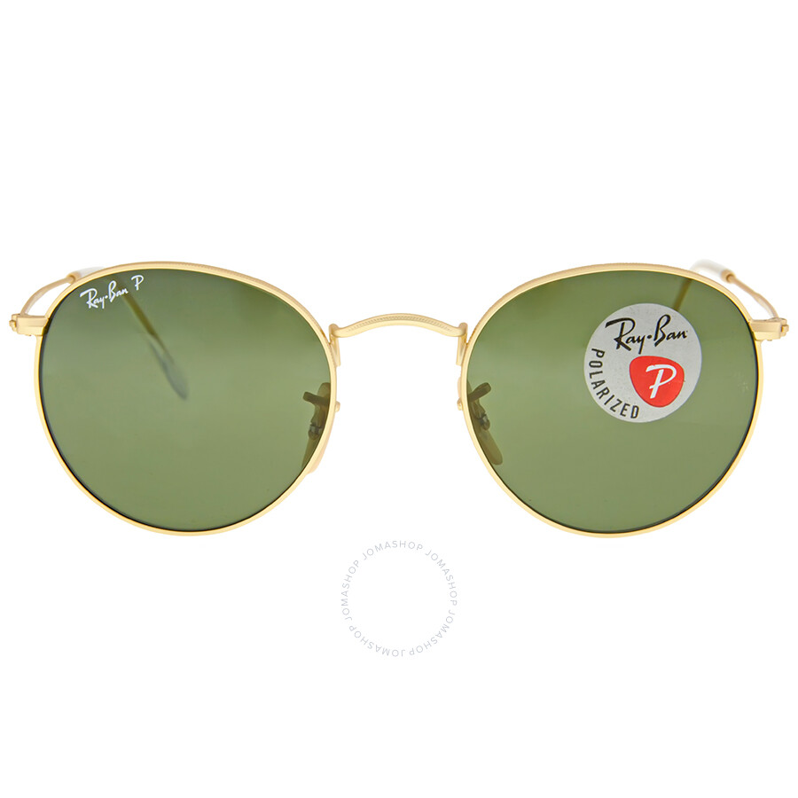 5158d79dbe Ray Ban Round Metal Polarized Green Classic G-15 Sunglasses