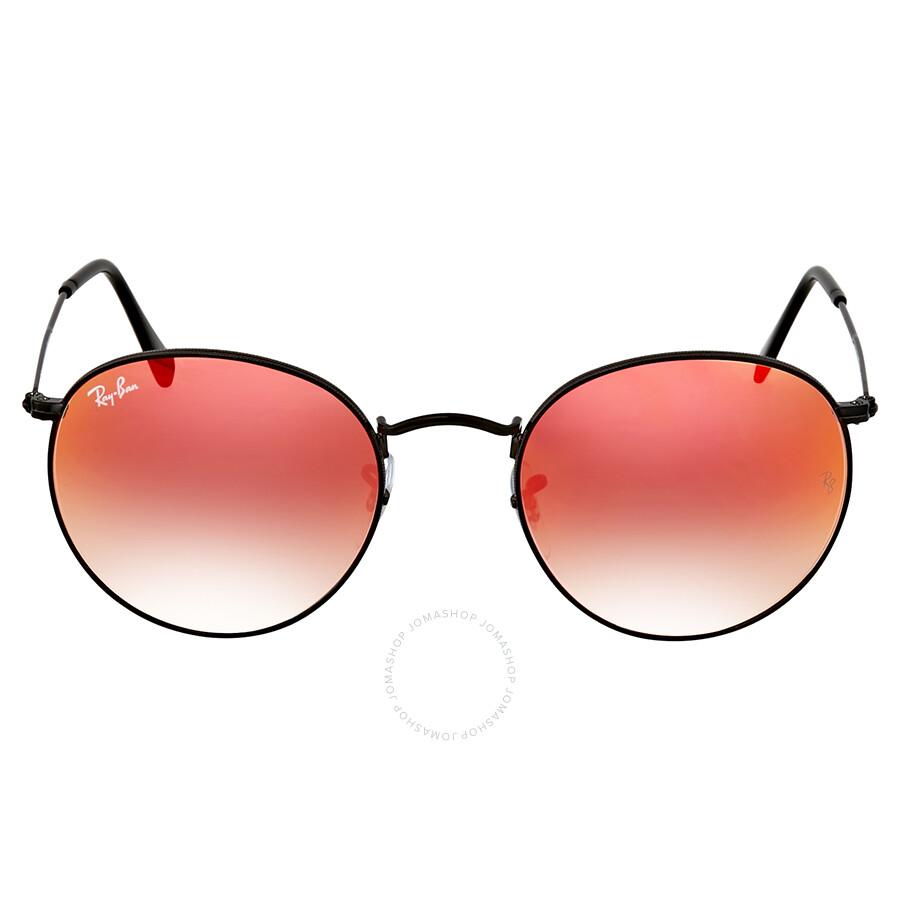 d7814e6bf73 Ray Ban Round Orange Gradient Flash Sunglasses Item No. RB3447 002 4W 53