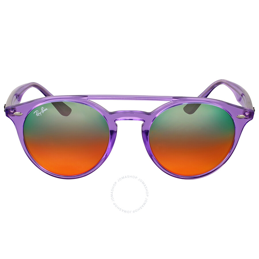 7760714204 Ray Ban Round Orange Gradient Mirror Round Sunglasses Item No. RB4279  6280A8 51