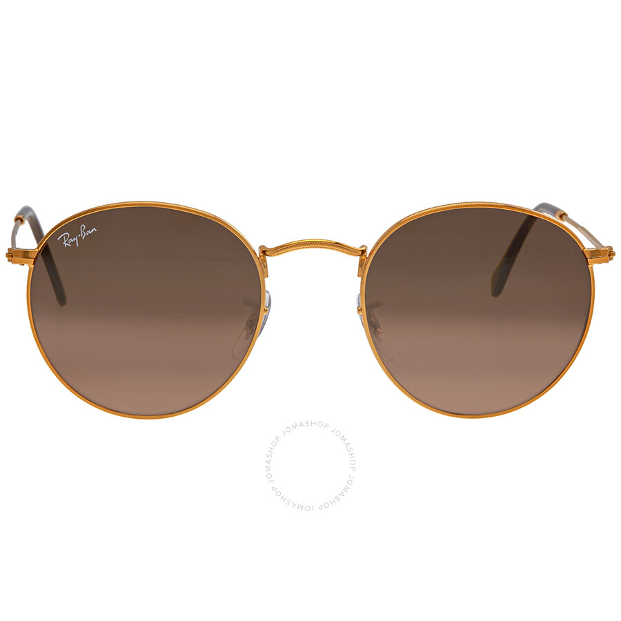 8cde32046 Ray Ban Round Pink/Brown Gradient Men's Sunglasses RB3447 9001A5 50