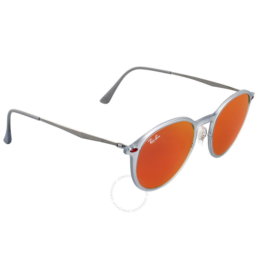 Ray ban round red mirror sunglasses rb42246506q49 round for Mirror sunglasses