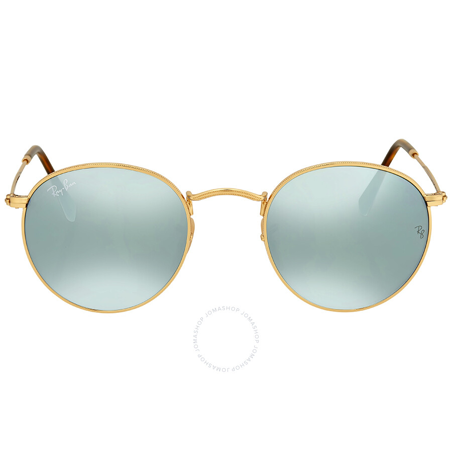 c8f3903773 Ray Ban Round Silver Flash Men s Sunglasses RB3447N 001 30 47 ...