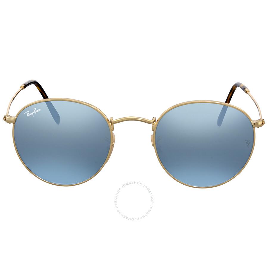 9f03675fff4afd Ray Ban Round Silver Flash Sunglasses - Round - Ray-Ban - Sunglasses ...