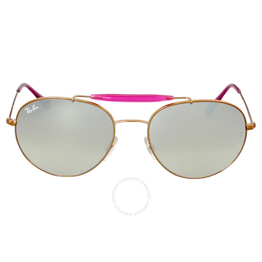 bacfccd7c3 Ray Ban Round Silver Gradient Flash Sunglasses RB3540-198 9U-56 Item No. RB3540  198 9U 56-18