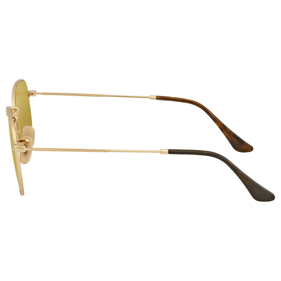 9fbc349fe8 Ray Ban Round Yellow Flash Sunglasses RB3548N 00193 51 - Round - Ray ...