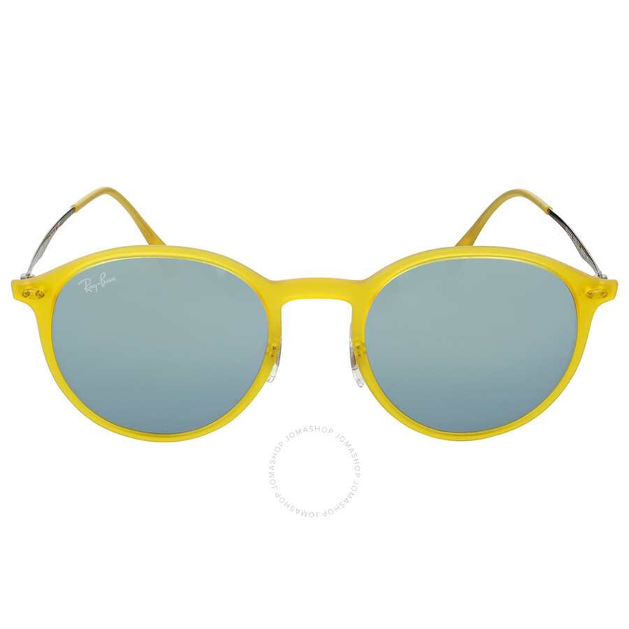 f0e386d1a1f5 Ray-Ban Round Yellow Gunmetal Round Sunglasses - Round - Ray-Ban ...