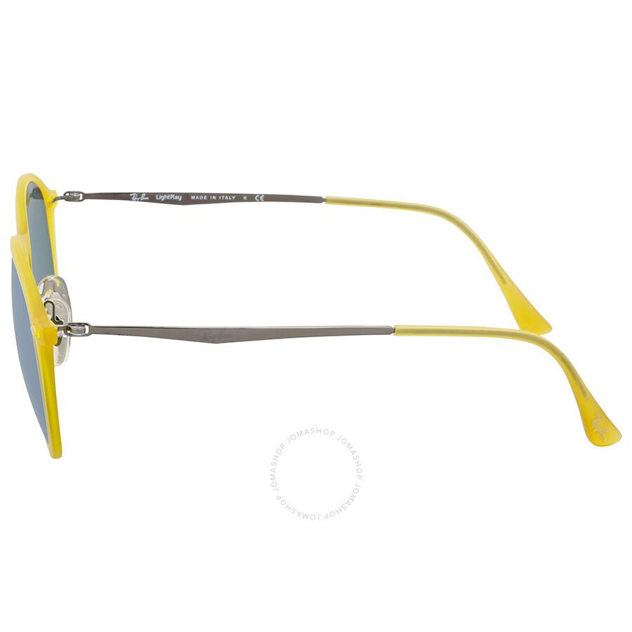 e71acf767eb8b Ray-Ban Round Yellow Gunmetal Round Sunglasses - Round - Ray-Ban ...