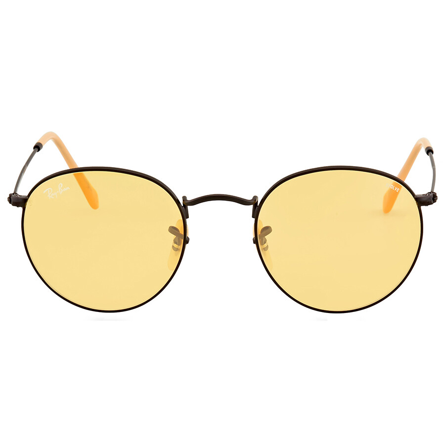 68fff4fe18f Ray Ban Round Yellow Photochromic Sunglasses RB3447 90664A 50 ...