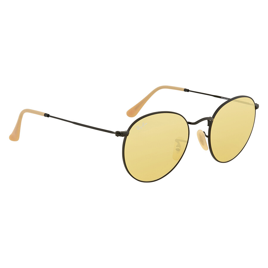 7ef09c990b ... Ray Ban Round Yellow Photochromic Sunglasses RB3447 90664A 53 ...