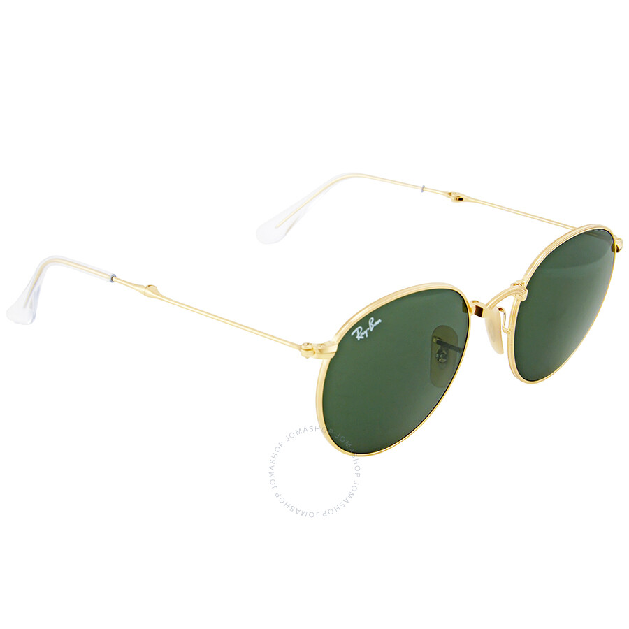 a42308f8ed Ray Ban Green Classic G-15 Round Metal Sunglasses