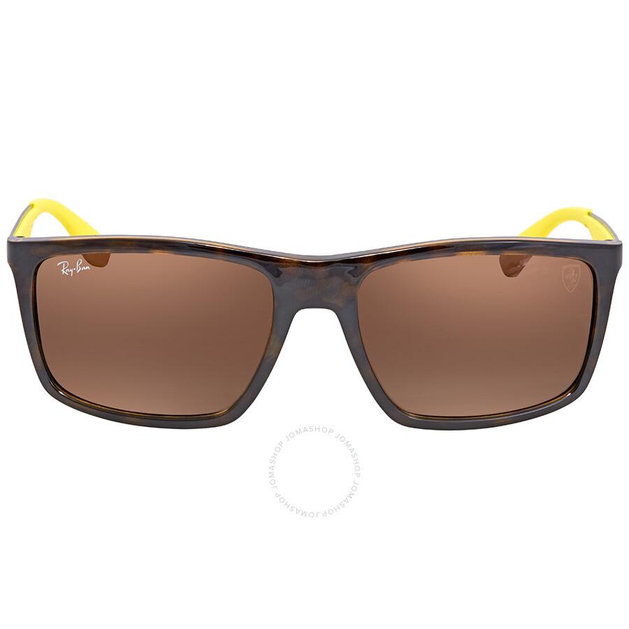 60b6dded7c3 ... Ray Ban Scuderia Ferrari Brown Gradient Rectangular Sunglasses RB4228M  F60913 58 ...