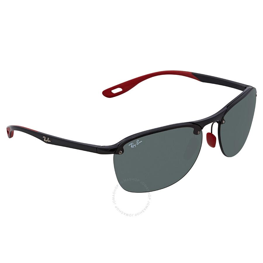 ac66d151b7 Ray Ban Scuderia Ferrari Green Classic Rectangular Sunglasses RB4302M  F60171 62 ...
