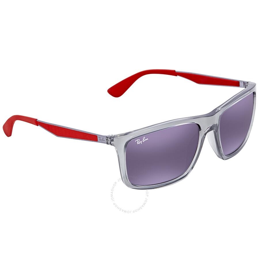 b35e846d00 Ray Ban Scuderia Ferrari Grey Gradient Rectangular Sunglasses RB4228M  F6108G 58 ...