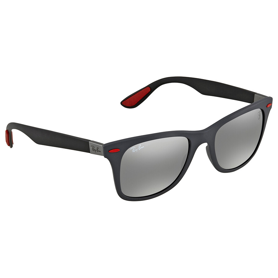 92576ad1802 Ray Ban Scuderia Ferrari Grey Mirror Sunglasses RB4195M F6056G 52 ...