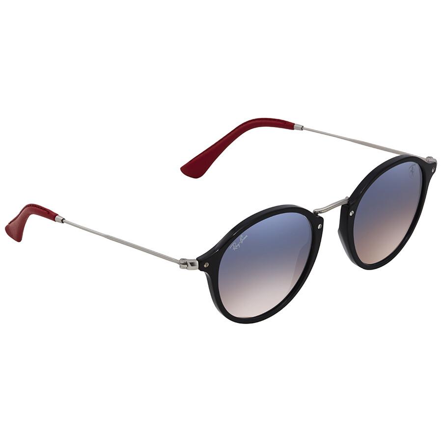 9049c35265 Ray Ban Scuderia Ferrari Light Blue Gradient Round Sunglasses RB2447NM  F6013F 49 ...