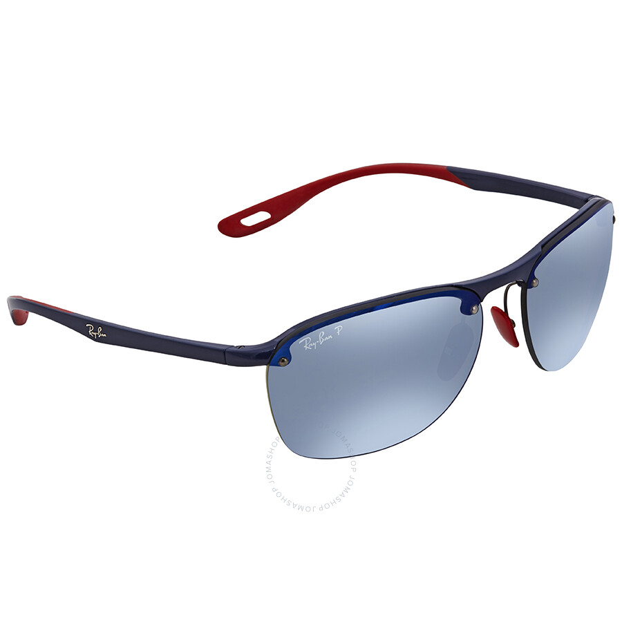 833d63dfc28e3 Ray Ban Scuderia Ferrari Polarized Blue Mirror Chromance Rectangular  Sunglasses RB4302M F606H0 62 ...