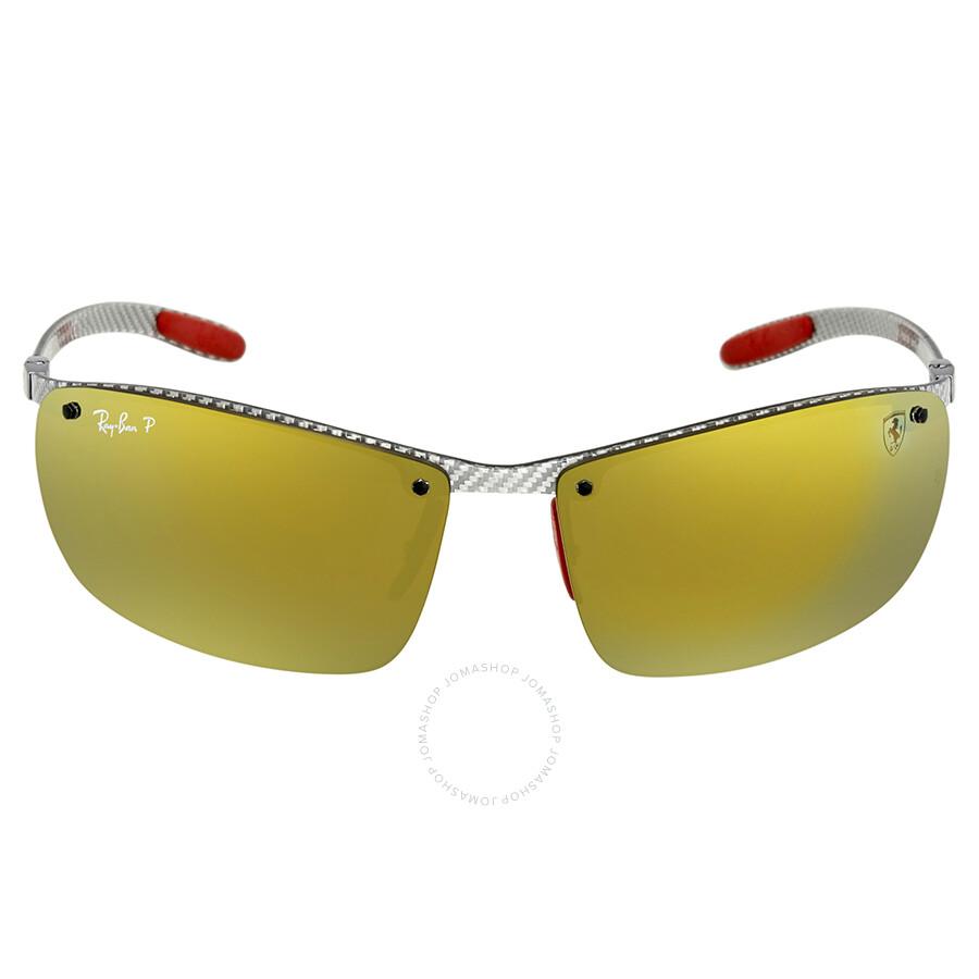 51e1bed30e4e1 ... Ray Ban Scuderia Ferrari Polarized Gold Mirror Chromance Rectangular  Sunglasses RB8305M F0066B 64 ...