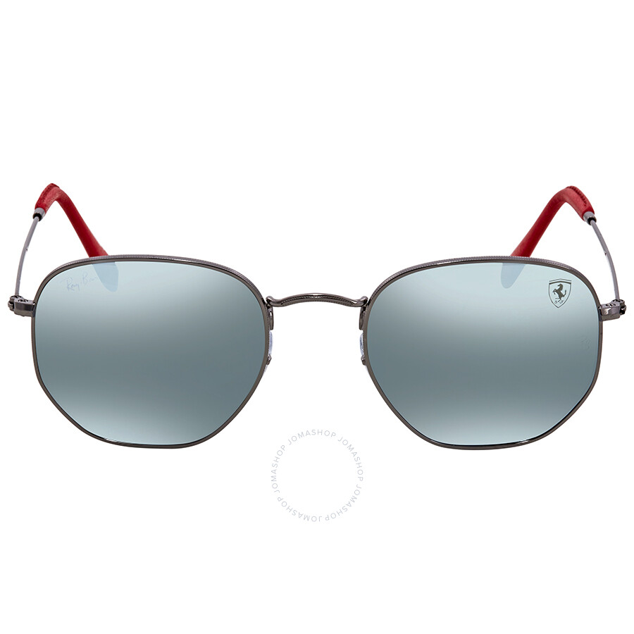 397da9e84b543 ... Ray Ban Scuderia Ferrari Silver Flash Sunglasses RB3548NM F00130 51 ...